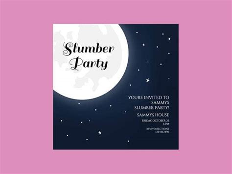 slumber party invitation designs templates psd ai