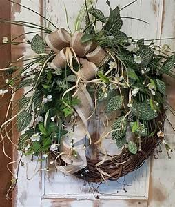 Best, Seller, Ivy, Fittonia, Front, Door, Wreath, U2013, Farmhouse, Florals