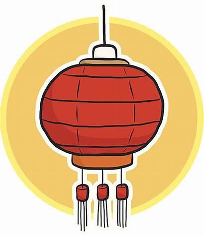 Lantern Chinese Clipart Clip Cartoon Festival Vector