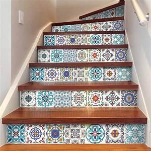 Stickers Imitation Carreaux De Ciment : stickers escaliers carreaux de ciment bahuma sticker ~ Melissatoandfro.com Idées de Décoration