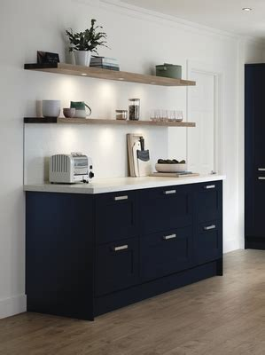fairford navy shaker kitchens howdens joinery