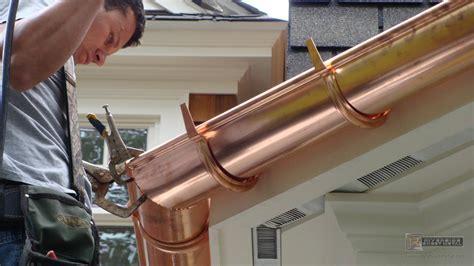 Copper gutter   Riverside Sheet Metal   Medford, MA