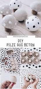 Herbstdeko Selbst Gemacht : diy pilze aus beton kreative und einfache bastelidee mit beton diy basteln basteln mit ~ Orissabook.com Haus und Dekorationen