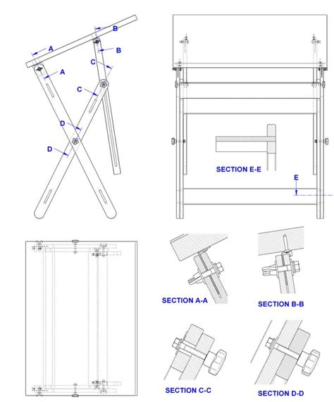 woodworking drafting table plans   drafting