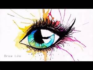 Dessin Facile Yeux : dessin oeil aquarelle youtube ~ Melissatoandfro.com Idées de Décoration