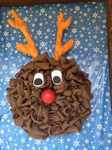 Burlap, Rudolph, Reindeer, Wreath