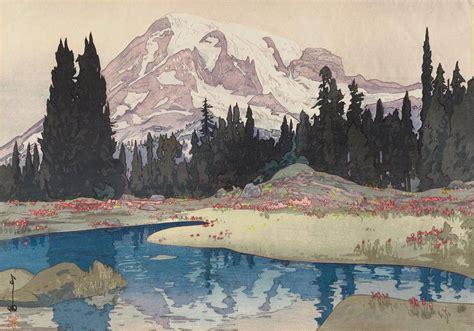 yoshida hiroshi japanese artwork painting mountains