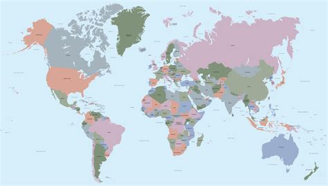 vector world map   countries maproom