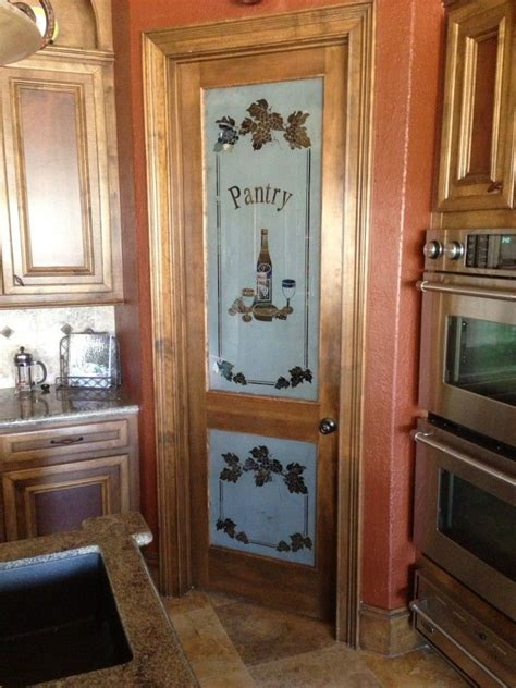small wood glass pantry cabinets  doors  apple