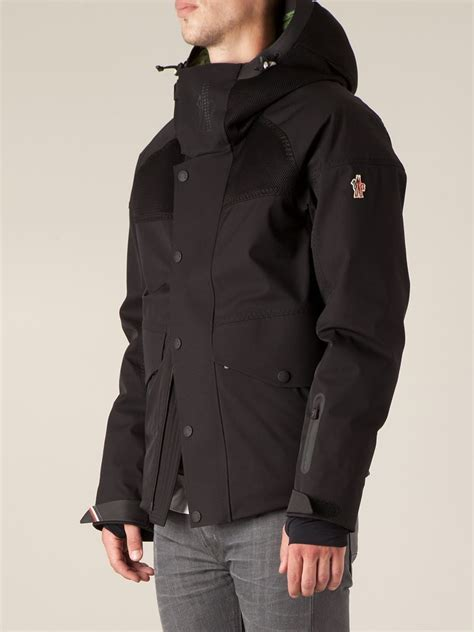 Jacket For by 3 Moncler Grenoble Contrasting Panels Hooded Jacket In