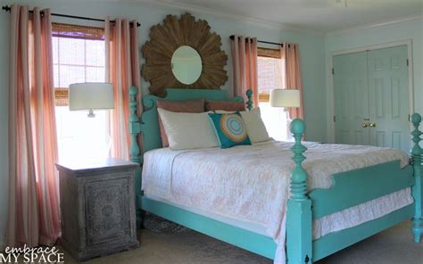 ethan allen quincy bed in turquoise pretty dwelling