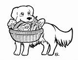 Coloring Golden Retriever Pantry Delivery Hard Drawing Thank Drive Dog sketch template