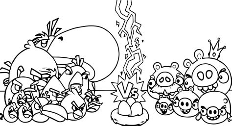 Angry Birds Kleurplaten by Angry Birds Vs Bad Piggies Coloring Page Wecoloringpage