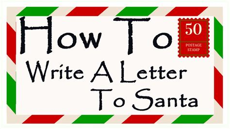 write a letter to santa how to write a letter to santa 9593