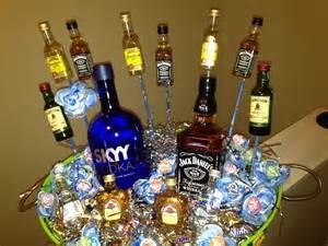 21st Birthday Liquor Gift Basket