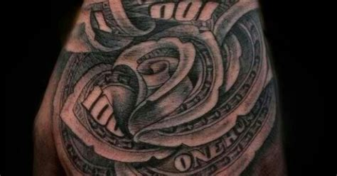 Hundred Dollar Bill Rose Tattoo Tattoos Pinterest Tattoo Art