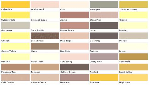 kwal paint colors palette