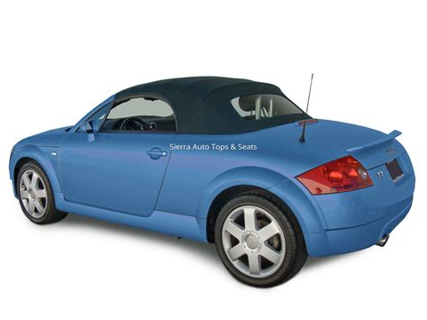 Audi Tt Convertible Top In Black Stayfast Cloth With Glass