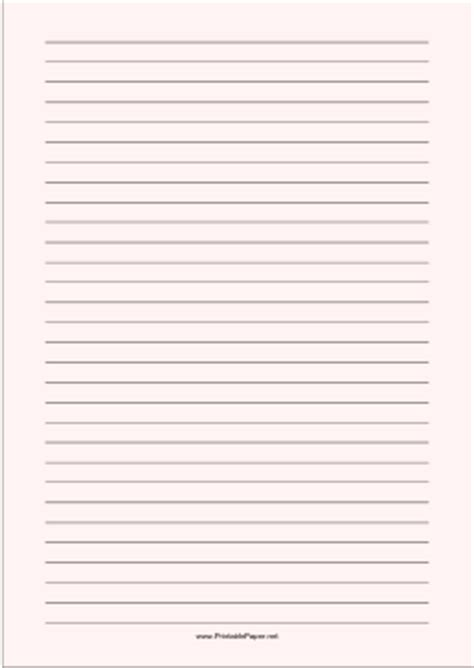 printable lined paper pale red wide black lines