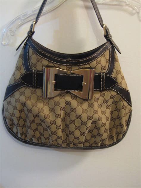 gucci queen medium hobo handbag gg brown monogram canvas