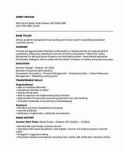 Curriculum Vitae Format For Bank Job