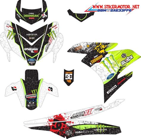 Motip Motor Beat by Stiker Motor Yamaha Mx King Ken Block Hoonigan