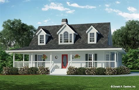 house with wrap around porch house plan the morninglory by donald a gardner architects