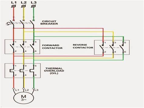 reversing motor starter wiring diagram wiring forums