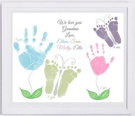 flower  butterflies handprint art