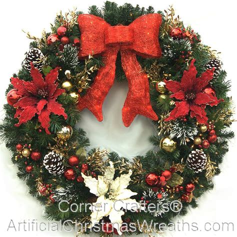 large lighted wreath 3 foot magic wreath artificialchristmaswreaths