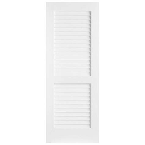 interior louvered doors home depot masonite 24 in x 80 in plantation smooth louver