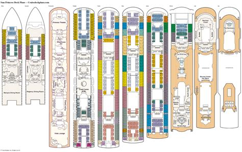 Ruby Princess Emerald Deck Plan by Location Of Sapphire Princess Vision Of The Seas Location