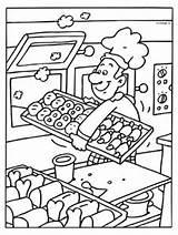 Coloring Baker Pages Kleurplaten Maternelle Eten Coloriage Bakker Kleurplaat Preschool Coloringpages Cooking Kleuters Alimentation Kinderen Knutselen Colorier Milou Juf Al sketch template