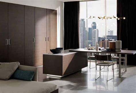 cocina invisible de estilo minimalista interiores