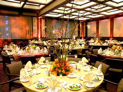Fall Wedding Table Scape The Harbert Center Wedding
