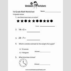 First Grade Math Practice Worksheet Printable  Children's Books  Pinterest  Math Practice