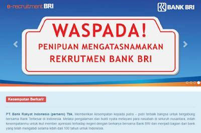 lowongan kerja bank bri pasuruan  terbaru mulai bulan