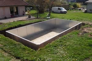 Piscine En Kit Enterrée : piscine acier galvanis enterr e pas cher piscine discount ~ Melissatoandfro.com Idées de Décoration