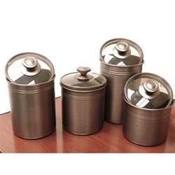 4 kitchen canister sets kamenstein brushed bronze 4 kitchen canister set free shipping on orders 45