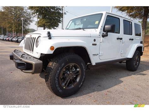 white jeep sahara 2017 2017 bright white jeep wrangler unlimited sahara 4x4