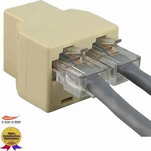 Cat5e Rj45 1 To 2 Lan Ethernet Network Cable Splitter
