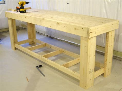 how to make a work table workbench 2x4 houses plans designs