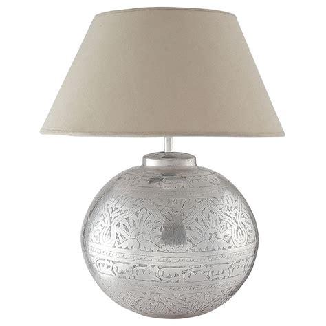 lampe en laiton  abat jour en tissu   cm salvador maisons du monde