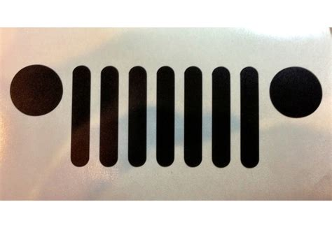 jeep grill decal jeep grille car decal vinyl