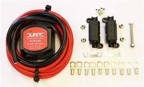 split charge relay kit 12v durite 140 kit vanguard cervan parts