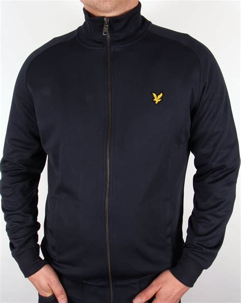 lyle  scott track jacket navy blue lyle  scott