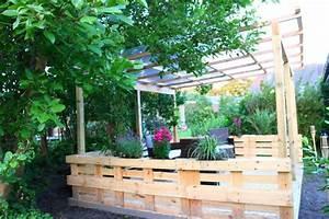 Sichtschutz Mit Paletten : terrasse aus paletten mit dach diy academy ~ Eleganceandgraceweddings.com Haus und Dekorationen