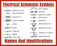 schematic symbols chart electric circuit symbols a considerably complete alphabetized table