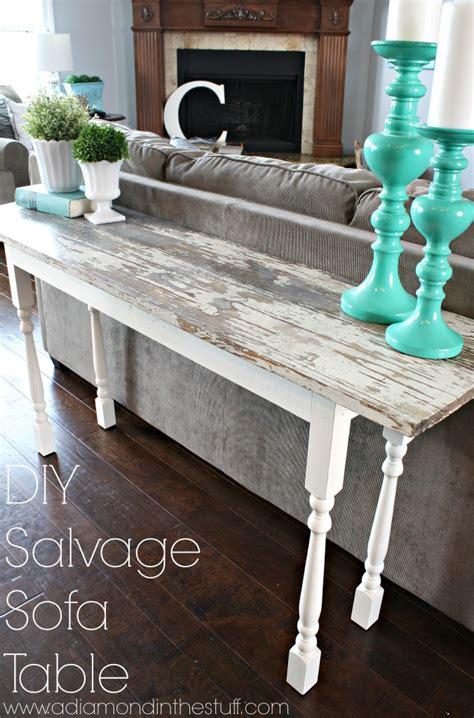 diy salvage sofa table  diamond   stuff bloglovin