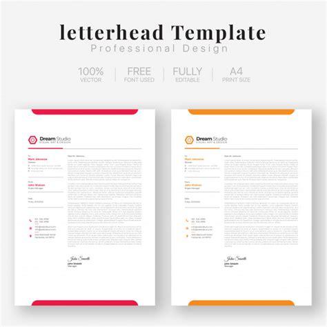 letterhead template vector premium
